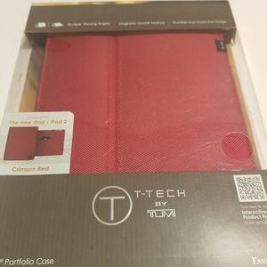 Tumi by T-Tech iPad Portfolio Case Crimson Red
